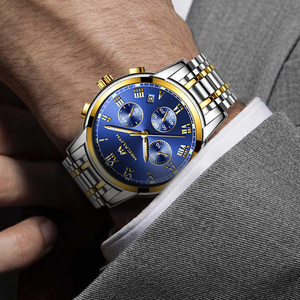 Image 5 - MEGALITH Luxury Luminous Watches Men Waterproof Stainless Steel Analogue Wrist Watch Chronograph Date Quartz Watch Montre Homme