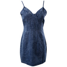 6e2e58a4f5 Women Summer Casual Slim Solid Sleeveless Evening Party Club Dress Jeans  Short Mini Dress