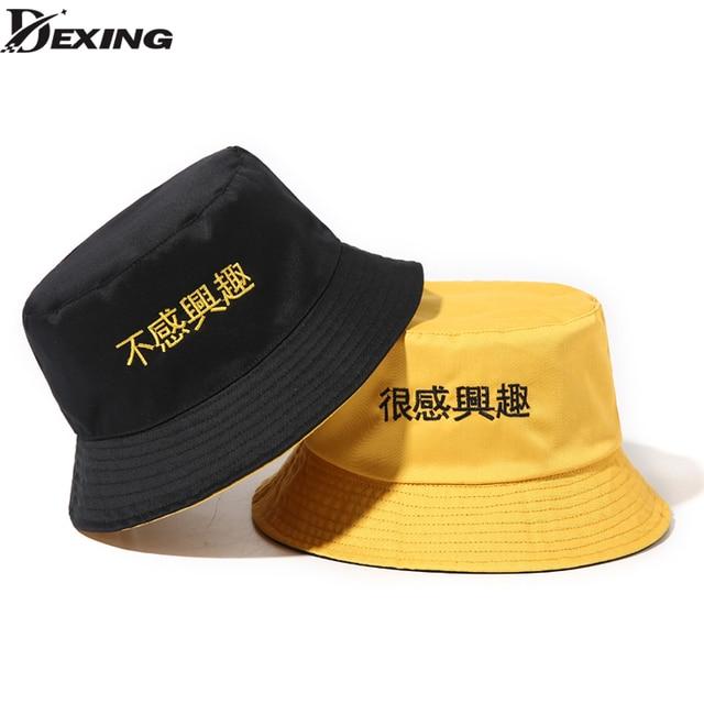 e3bde7c4c37 Panama Two Side Reversible unisex fashion Bucket Hat Bob Caps boys Hip Hop  Gorro Men Summer
