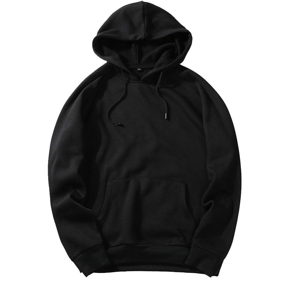 2020 Autumn Fashion Hoodie Male Warm Fleece Coat Hooded for Men 3