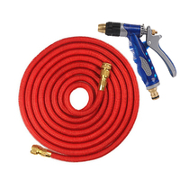 25FT 100FT Garden Hose Copper Joint Expandable Magic Watering Hoses With Spray Gun Car Flexible Outside Garden Watering Kit Set