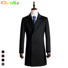 2016 autumn winter cashmere wool coat male wool casual clothing high quality thermal long wool blends