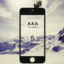 10 adet sınıf AAA iPhone 5 LCD için 100% meclisi ekran değiştirme ekran yok ölü piksel dokunmatik ekran ile hızlı kargo