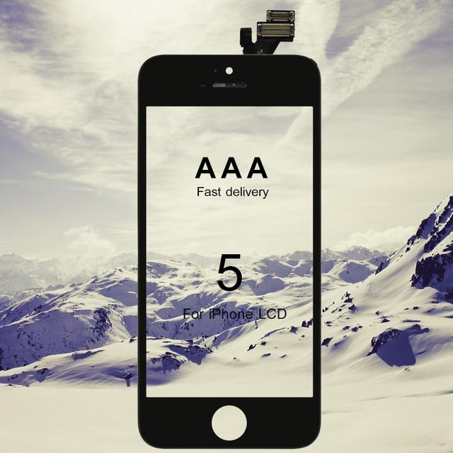 아이폰 5 LCD 100% 어셈블리 화면 교체 디스플레이에 대 한 10PCS 학년 AAA 터치 스크린 빠른 배송 죽은 픽셀 없음