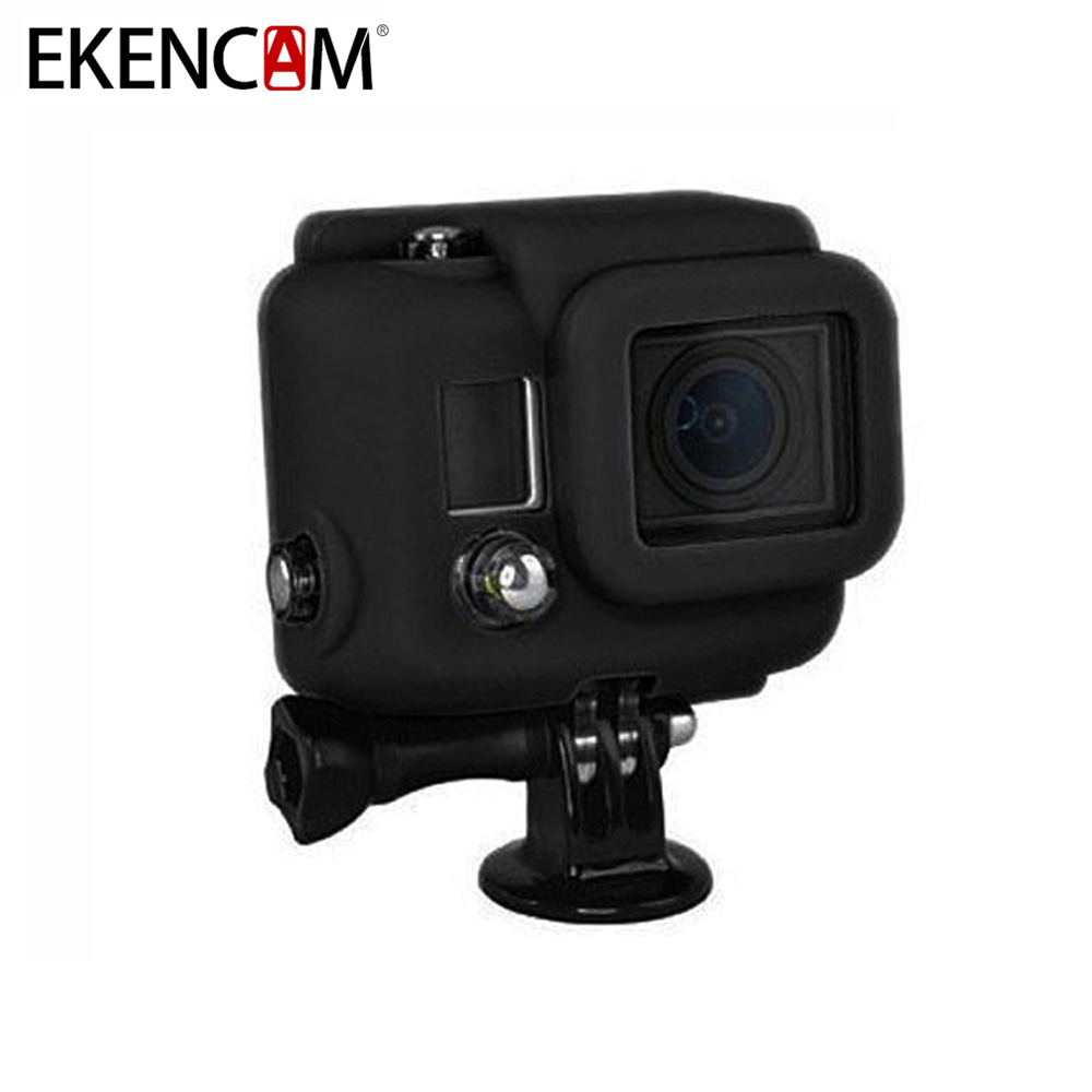 EKENCAM 3 Colors Soft Silicone Protective Case Cover Rubber Camera Bag For Gopro Hero 4 3+ Camera For GoPro Hero 4 Accessories