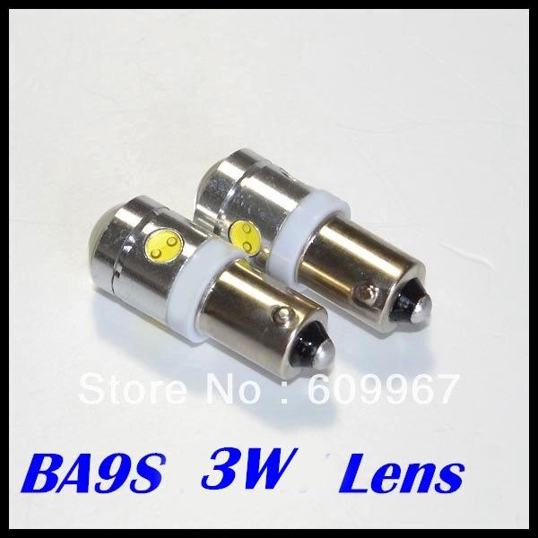 BA9S T10 Светодиодные лампы, автомобильные лампы высокой мощности 3 Вт 250лм с линзой 194 Автомобильные светодиодные лампы, светодиодные автомобильные лампы высокой мощности, дневные DRL светильник, лампа