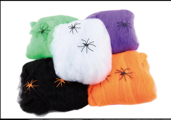 Free shipping Halloween supplies bar scene props spider silk spider web spider spider 20 grams of cotton belt accessories фото