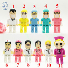 New Mini Medical Nurse 2.0 Flash Drive Dentist Pendrive Gift 4GB 8GB 16GB 32GB 64GB Creative Cute Fashion U Disk 3.0usb