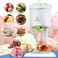 220V 240V Machine Icecream Hot Sale Mini DIY Fruit Milk Automatic 20W Ice Cream Maker household Ice Machine For Family