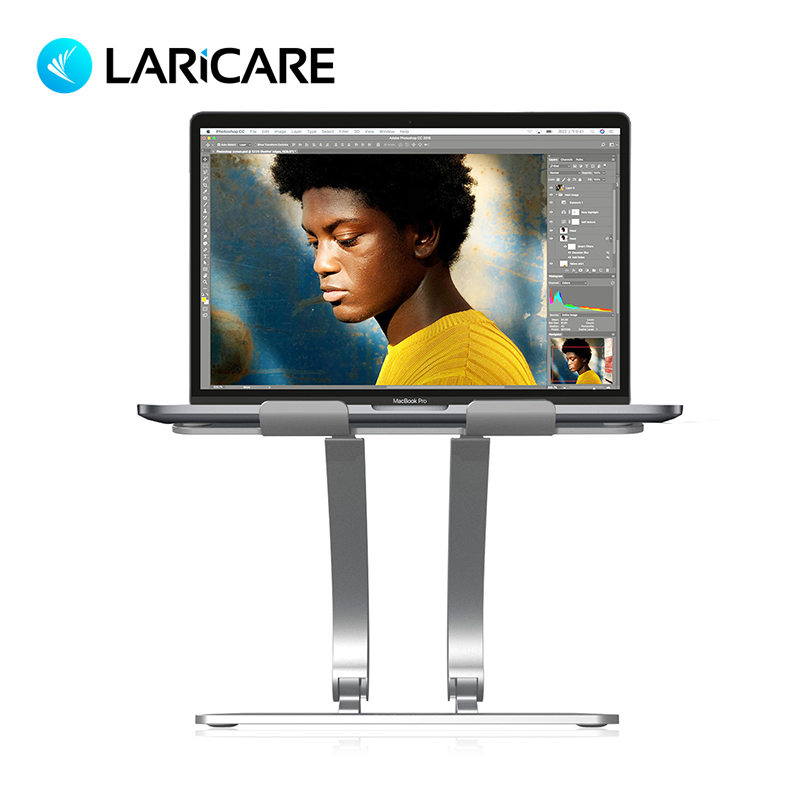 LariCare Aluminum Alloy Height Adjustable Laptop Stand,Tablet Stand For IPad Surface Pro. Support All Laptop and Tablet aluminum alloy abs plastic multi functional holder adjustable stand table mounts for ipad tablet