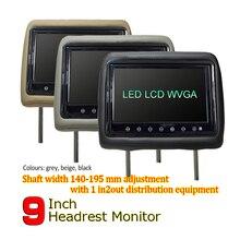 WOWAUTO 9 дюймов TFT светодио дный Экран подушку монитор общие подголовник автомобиля монитор AV1 AV2 бежевый/серый/черный Цвет