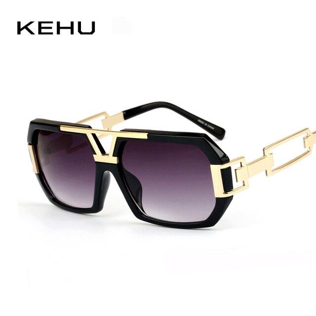 0a5e2dfac36 KEHU Fashion Sunglasses Women Retro Sunglasses Men Brand Designer Rectangle  Leg Glasses High Quality Uniqueness Glasses H1672