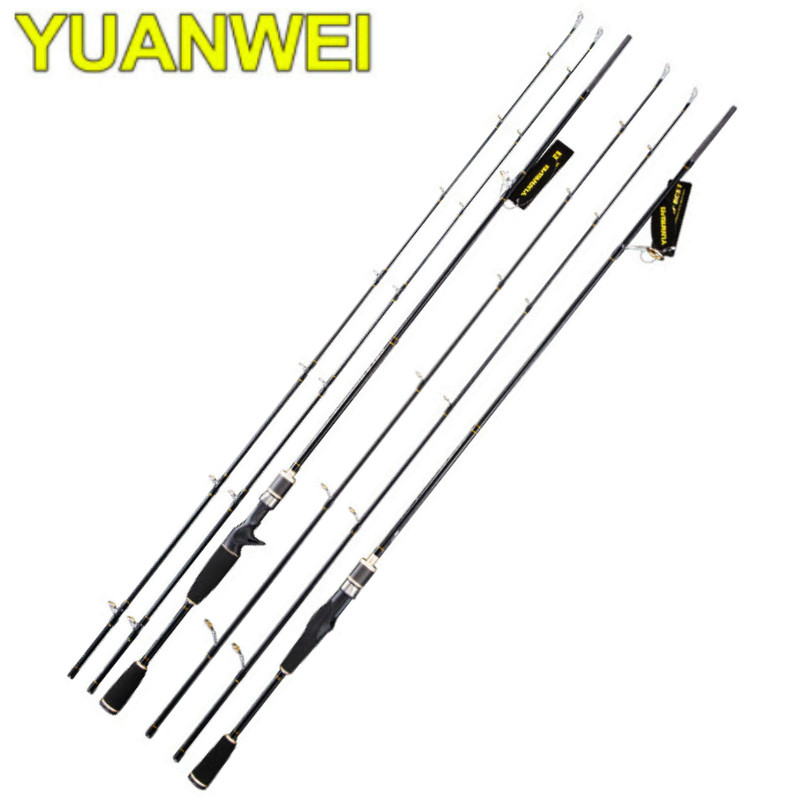 цена на YUANWEI 2.1m Spinning/Casting Fishing Rod 2 Tips 2 Sections ML/M Power Lure Rod Lure Weight 7-25g Fishing Pole for Saltwater