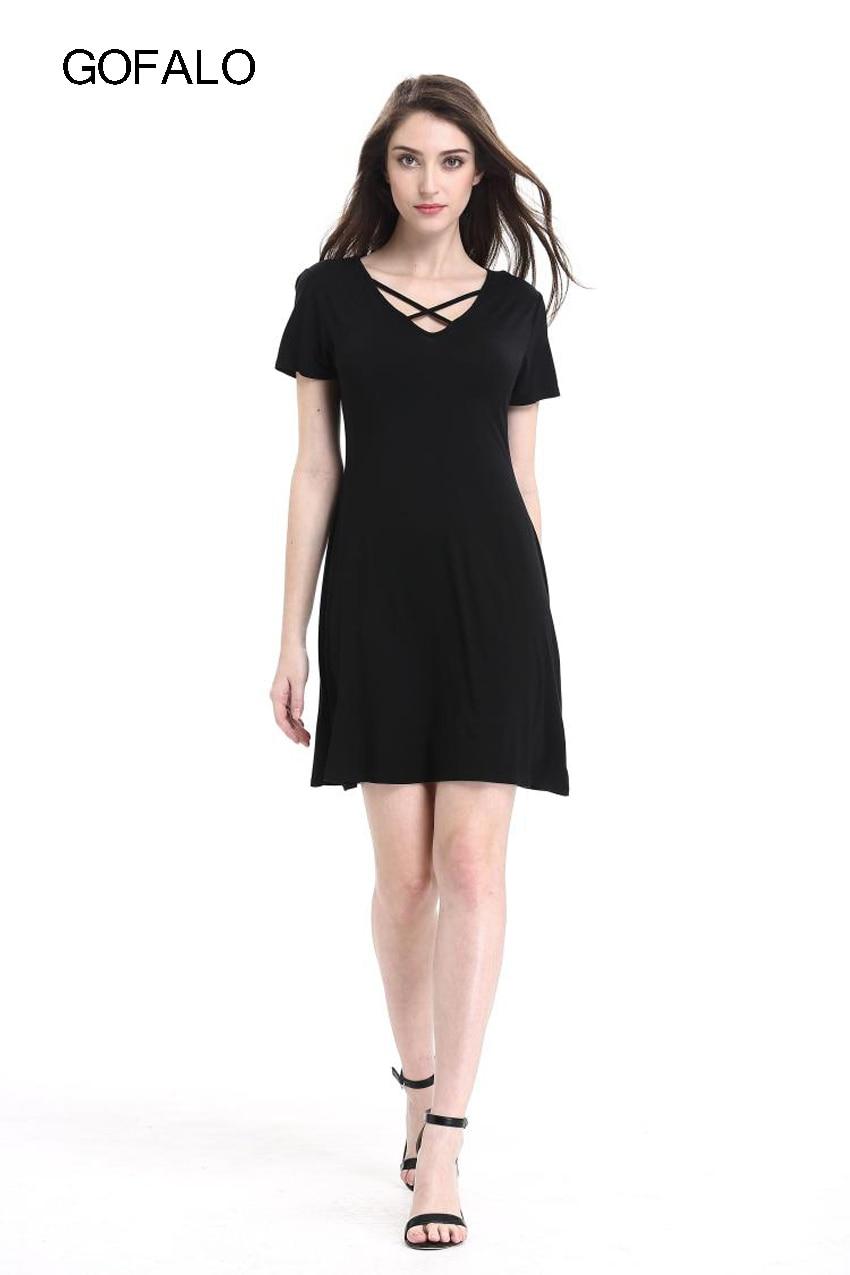 GOFALO Brief Casual Women New Summer 2017 Mini dress Cute ...