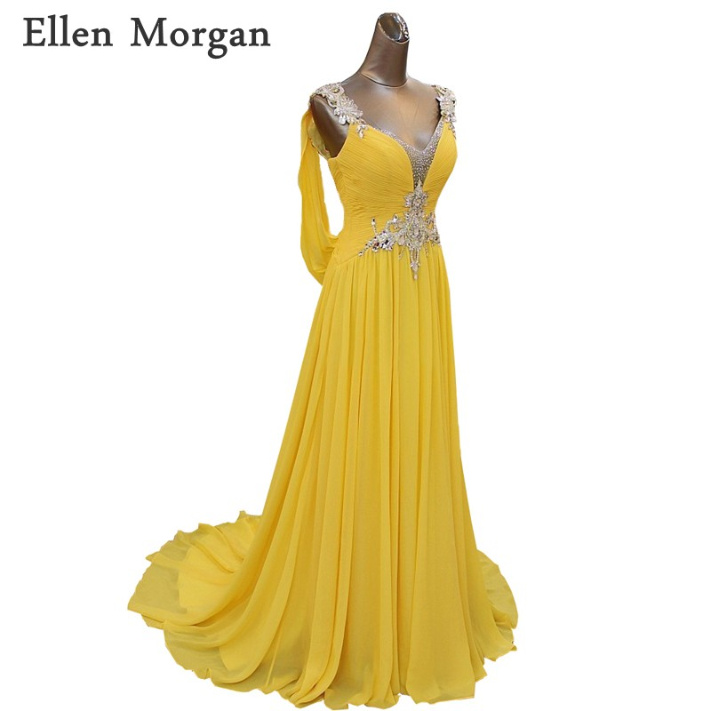 Elegant Party   Evening     Dresses   For Women Wear Chiffon with Luxury Crystal Red Carpet Celebrity Special Occasion Prom Gowns 2018