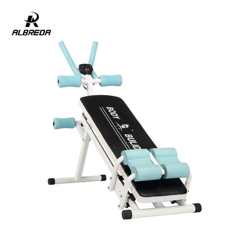 ALBREDA Machines de Fitness multifonctions pour la maison s'asseoir banc Abdominal planche de fitness équipements d'exercice abdominaux entraînement de gymnastique - 6