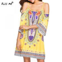 2019 Beach Cover Up dress Printed Bohemian sarong beach wrap Vintage Beach Dress kaftan off shoulder beach wear dress tuinc