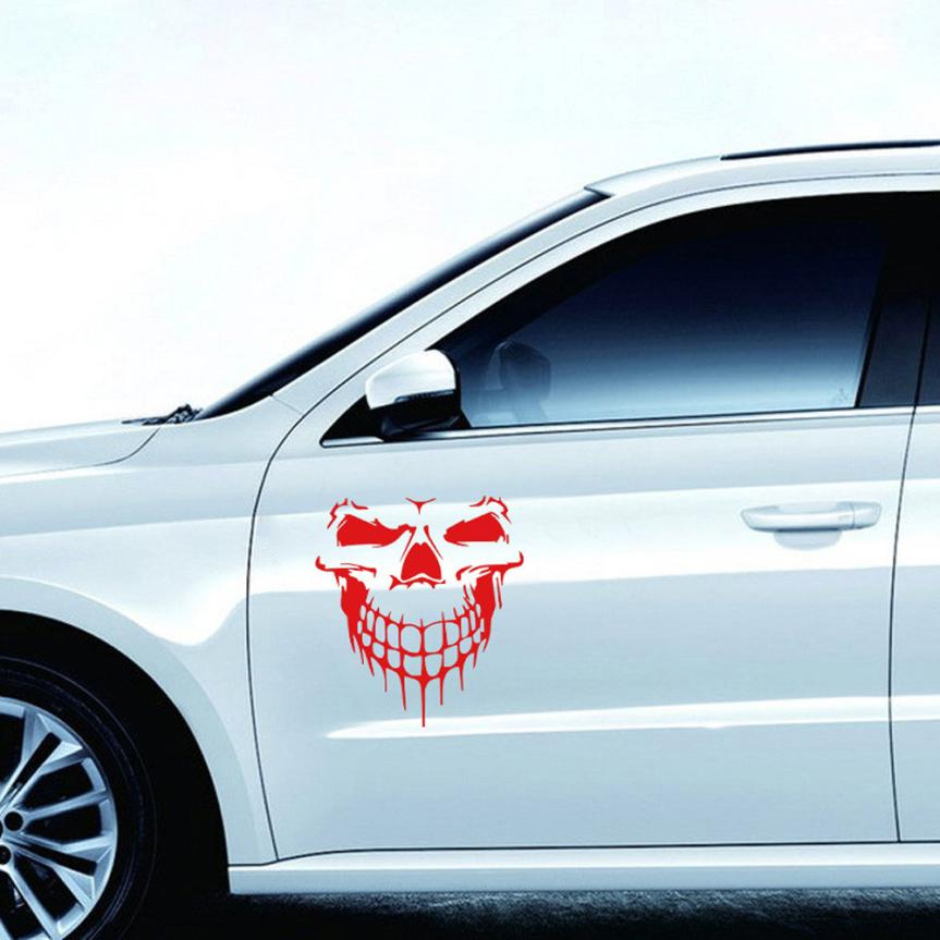 Reflective Skull Car Stickers Styling Removable Waterproof Sticker Decoration Car Stickers Decals