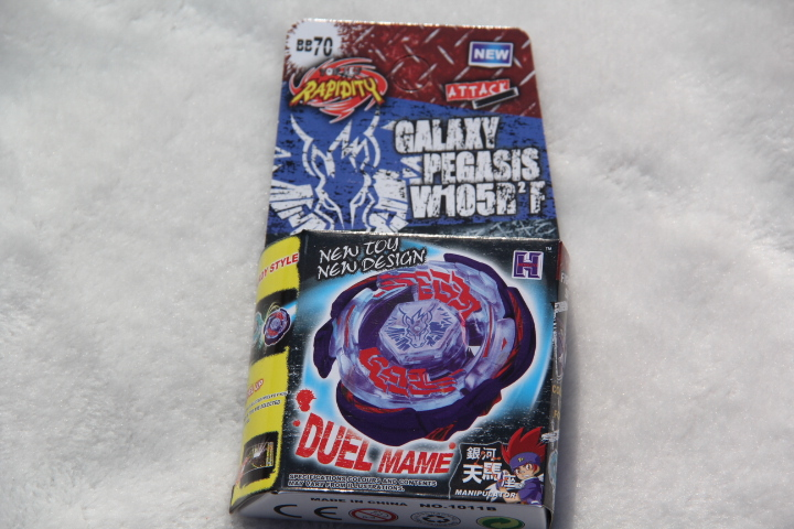 2015 New Arrive!! Galaxy Pegasus (Pegasis) W105R2F Metal Fury 4D Legends Beyblade BB70 Hyperblad Without Launcher