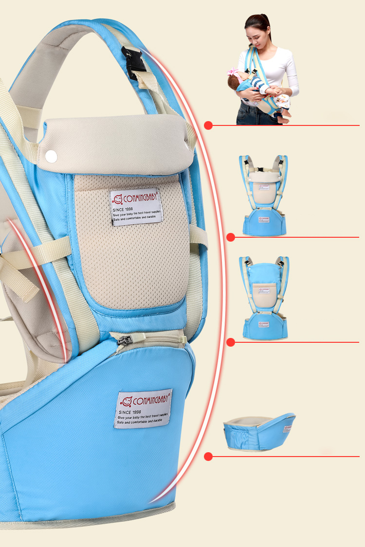 0-36 Months Ergonomic Baby Carrier And Breathable Hip Seat Kangaroo Sling For Newborns 7