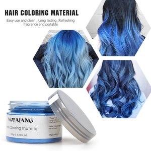 Image 5 - MOFAJANG haar kleur wax haarverf permanente haar kleuren crème unisex sterke hold oma grijs wegwerp pastel dynamische kapsel