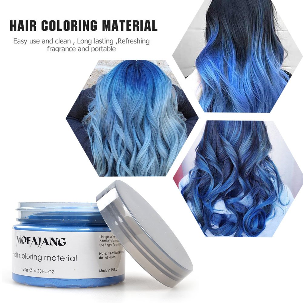 Image 5 - MOFAJANG hair color wax hair dye permanent hair colors cream unisex strong hold grandma grey disposable pastel dynamic hairstyle-in Hair Color from Beauty & Health