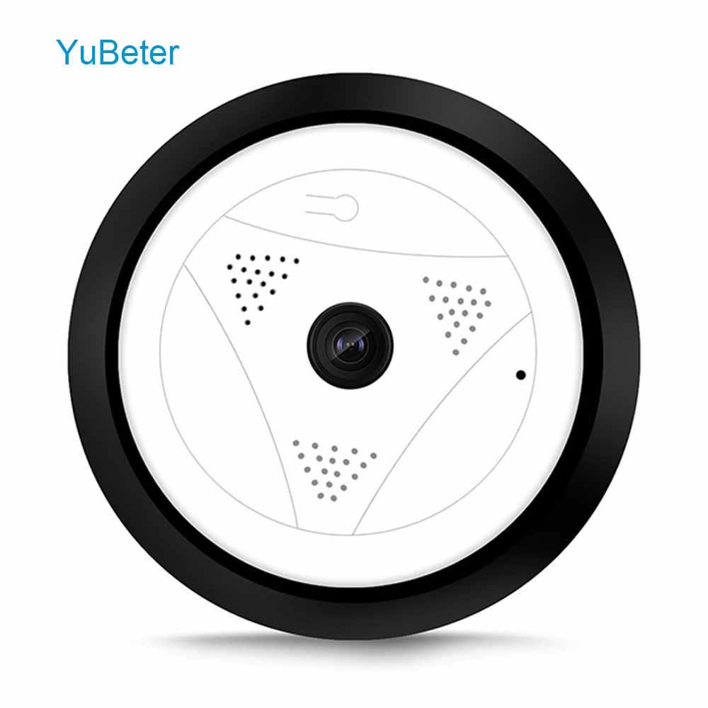 YuBeter Мини Wifi 360 IP камера безопасности панорамная 1.3mp Беспроводная рыбий глаз 960p HD видео наблюдение Цифровая видеокамера