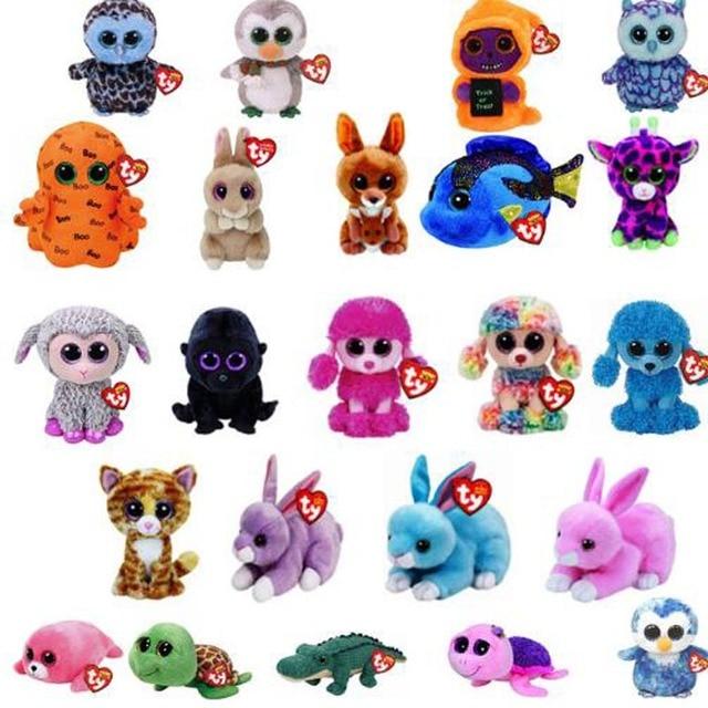 7c99b1080a1 Ty Beanie Boos Cute Owl Monkey Unicorn Plush Toy Doll Stuffed   Plush  Animals