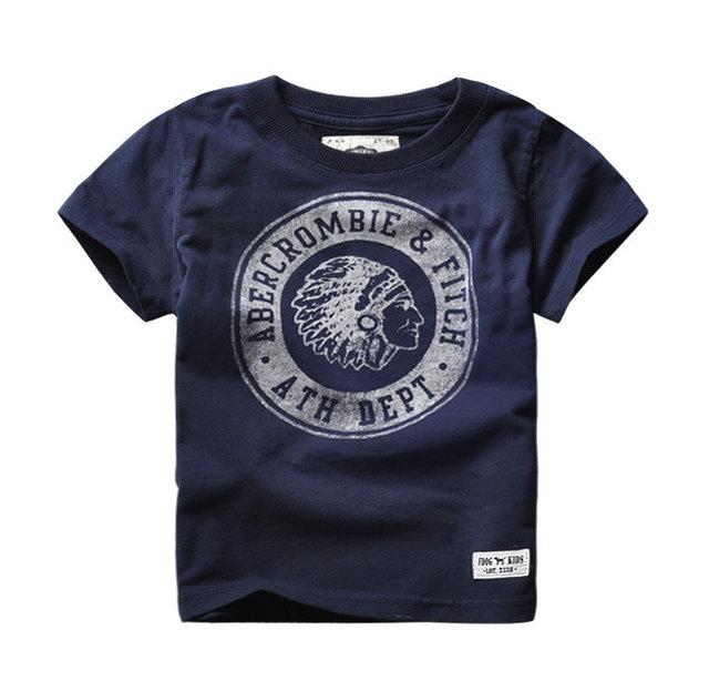 Nuevas camisetas del muchacho del o-cuello básico impreso verano de los muchachos camiseta de moda Casual camisetas corto mangas Top Tees para 2 - 6 T