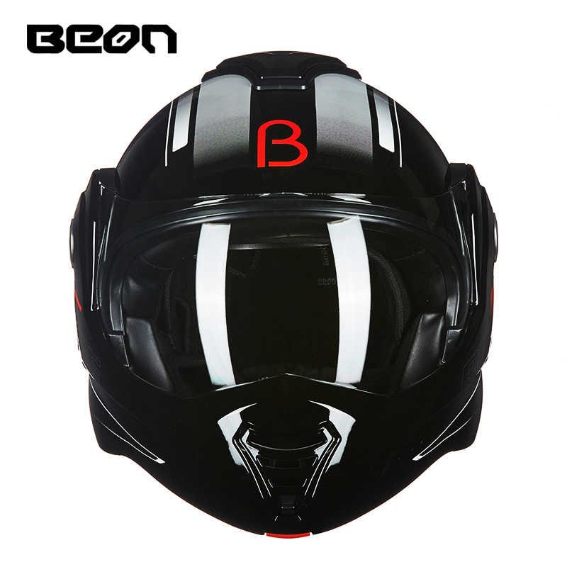Beon Motorcycle Filp Up Helmet Double Lenses Capacete Motocross Casco Moto Casque Moto Vintage 702