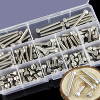 304 Stainless Steel Hex Socket Screw M3 M4 M5 M6 M8 Cylindrical Head Bolt Screws 1packing