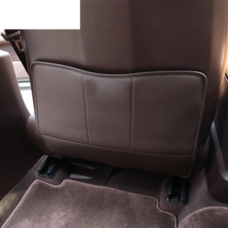 Lsrtw2017 fibra de assento de couro do carro mat anti-kick para lexus es350 es300h es260 es200 2018 2019