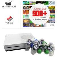 Dados Sapo 2017 Novo 4 GB Consoles de TV com 600 Jogos de Vídeo Game Console Gamepad Transparente Família Player para GBA/NEOGEO/NES/SNES