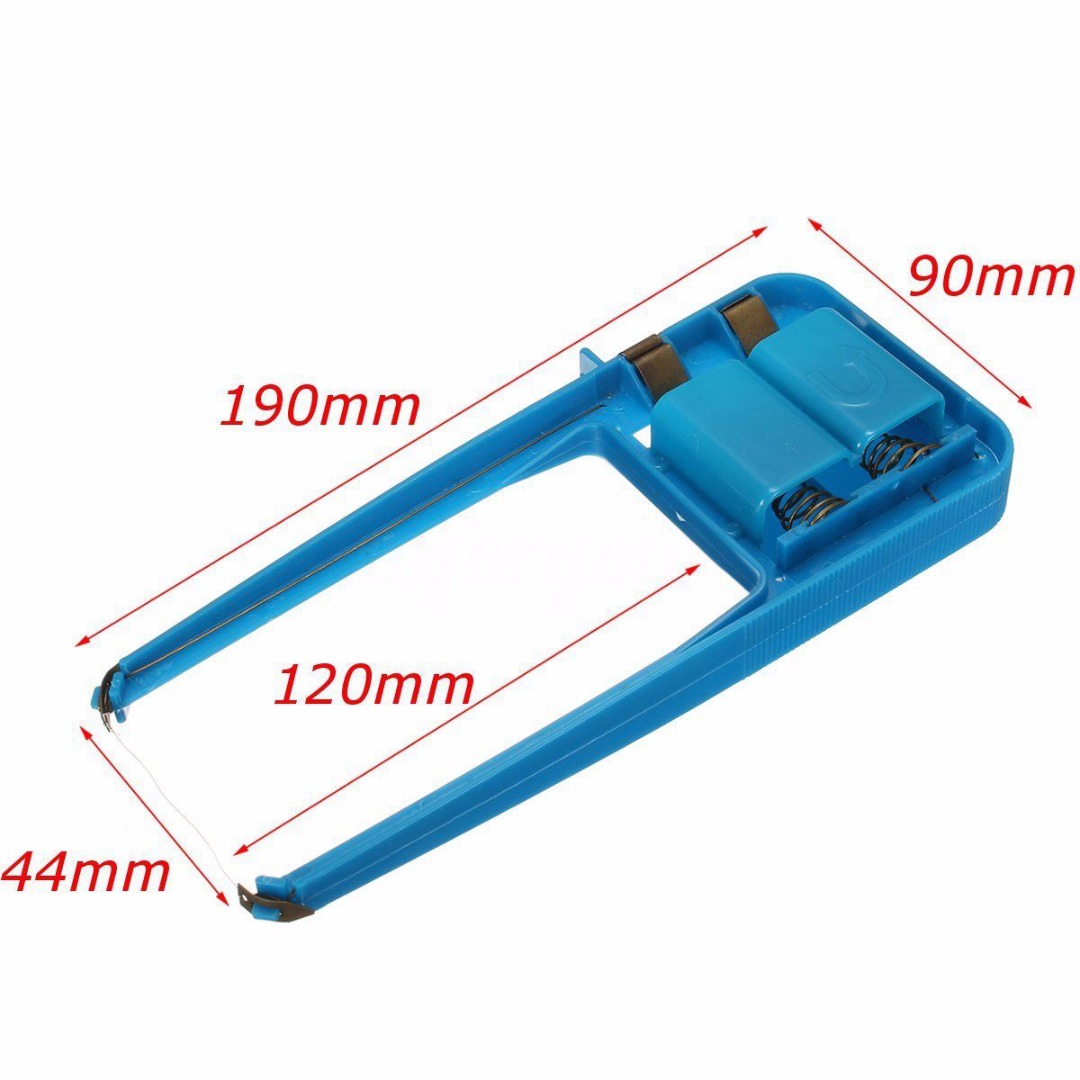 Plastic Blue Hot Wire Foam Cutter Mayitr Small Electric Styrofoam Polystyrene Craft Model DIY Cutting Tools190*90mm craft hot knife styrofoam cutter 1pc 10cm pen cuts foam kt board wax cutting machine electronic voltage transformer adaptor