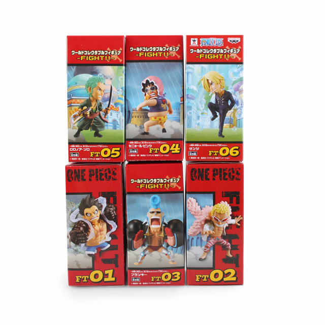 One Piece Action Figure Anime Luffy Gear 4 Classic Collection PVC Model Toys 6 Pcs/Set