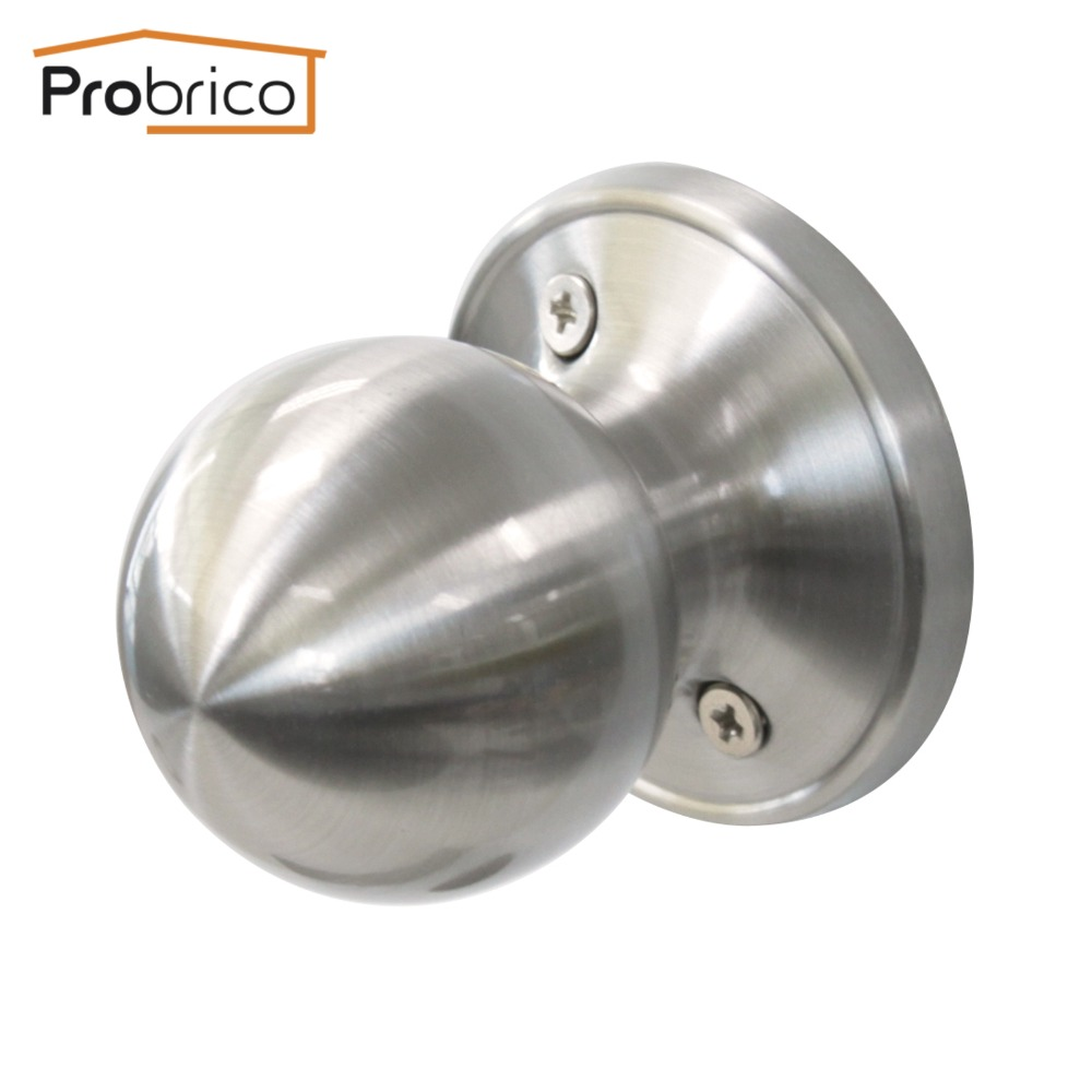 Probrico Wholesale 10 PCS Stainless Steel Half-Dummy Interior Door Knob Round Stain Nickel Door Handle DL607SNDM цена и фото