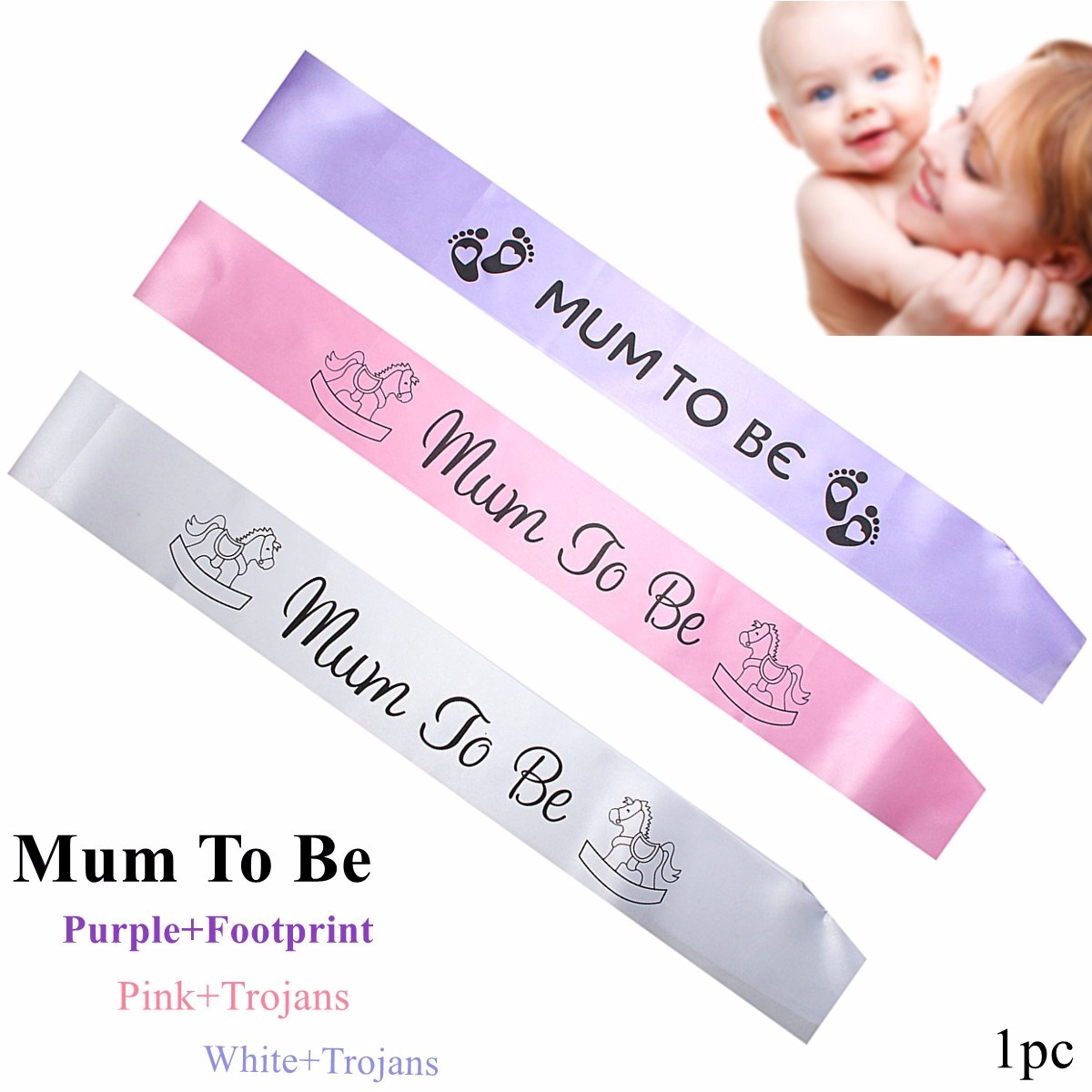 Superb Baby Shower Satin Sash Banner Mum To Be Party Grandma Auntie Nanny Ribbon  Events Party Decorative Accessories Multi Patterns In Banners, ...