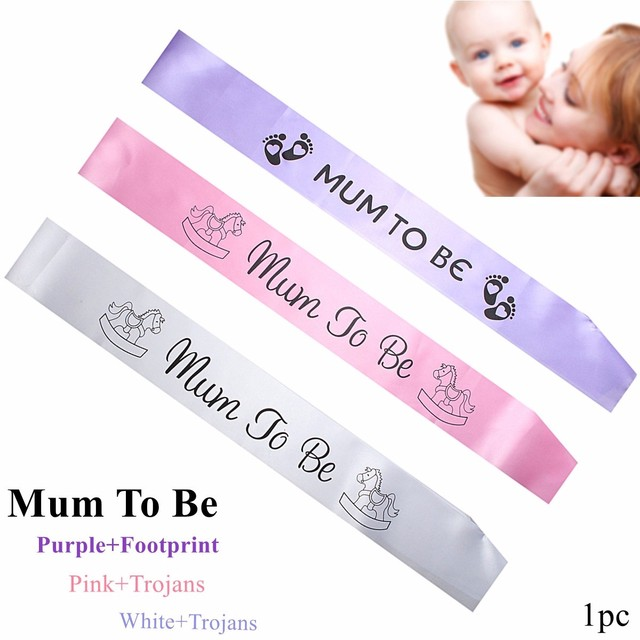 Baby Shower Satin Sash Banner Mum To Be Party Grandma Auntie Nanny Ribbon  Events Party Decorative