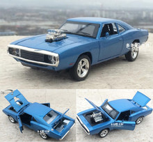 1:32 Alloy Car Model The Fast And The Furious Dodge Charger Four Color Metal Classical Cars For Kids Toys Free Shipping(China)
