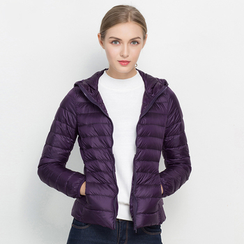 Women Winter Coat 2019 New Ultra Light White Duck Down Jacket Slim Women Winter Puffer Jacket Portable Windproof Down Coat 4