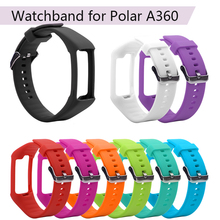 Soft Silicone Watch Band Wristband Bracelet Replacement for Polar A360 A370 Smart Watch Wrist Strap Wrist Band Accessories цены онлайн