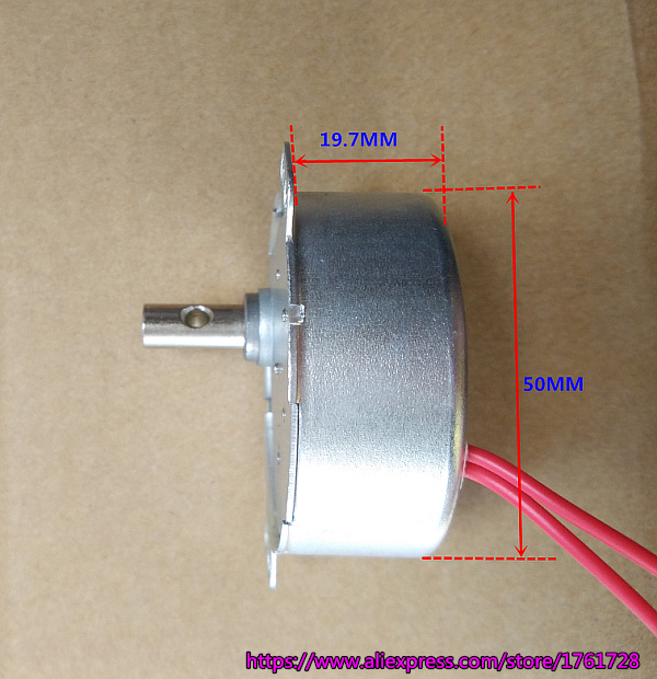 AC12V 4W 20rpm 50TYZ-D Permanent Magnetic Synchronous Motor Gear Motor CCW//CW