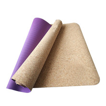 FEWIYONI Cork TPE Yoga Mat Eco-Friendly Non Slip 150cm *61cm*2mm Pilates Mat Tapis Yoga Fitness Exercise Mats Gym Mat high quality widen tpe camouflage yoga mat yoga mat eco friendly custom yoga mat tpe