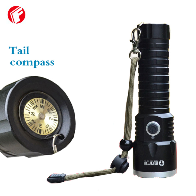 Фонарик led light cree xml t6 Recargable батареи 26650 Хвост компас Открытый водонепроницаемый огни