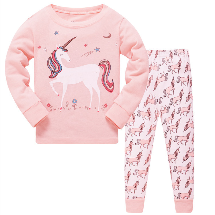 2019 Pijamas unicorn Girls Sleepwear Baby pyjamas Girl Clothes toddler 8T Clothing For Kids Pajamas set nightdress Home Suit 1