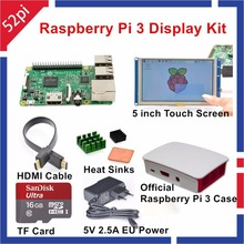 Raspberry Pi 3 Display Kit with 5 inch HDMI LCD Touch Screen+Official Raspberry Pi Case+16GB SD+5V 2.5 Power Supply + HDMI