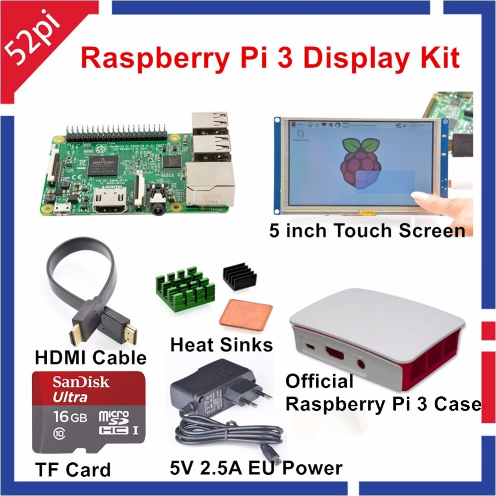 Raspberry Pi 3 Display Kit with 5 inch HDMI LCD Touch Screen Official Raspberry Pi Case