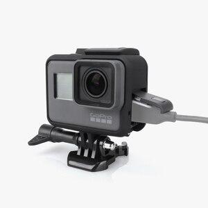 Image 2 - Vamson Housing Case Base Mount  Protective Frame Case for Go pro Accessories Action Camera Hero7 6 5Black 7 Silver/White VP631