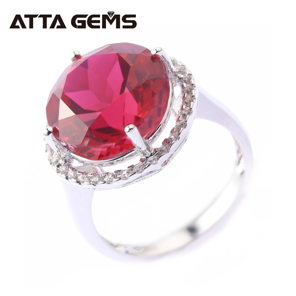 Ruby Sterling Silver Ring for Women Wedding Band 8.8 Carats Created Ruby Faced Cutting Professional Gemstone Trendy Style red ruby sterling silver women wedding band silver ring 2 1 carats created ruby gemstone engagement romantic style rings