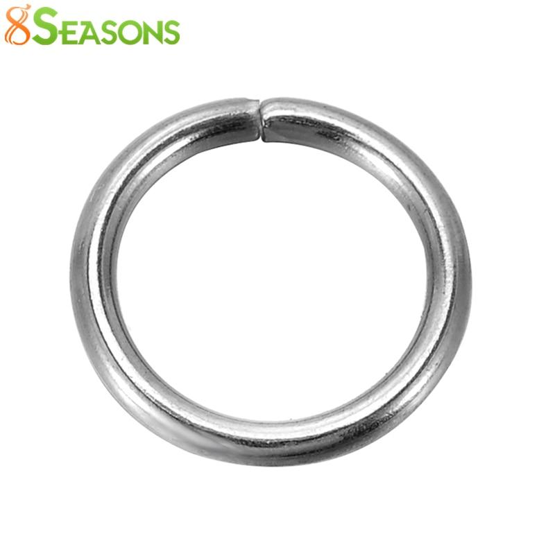 8SEASONS 200 Stainless Steel Open Jump Rings 10mm Dia. Findings (B10273)